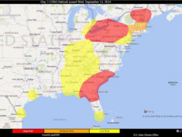 Map Showing Downy Mildew Risk Predictions